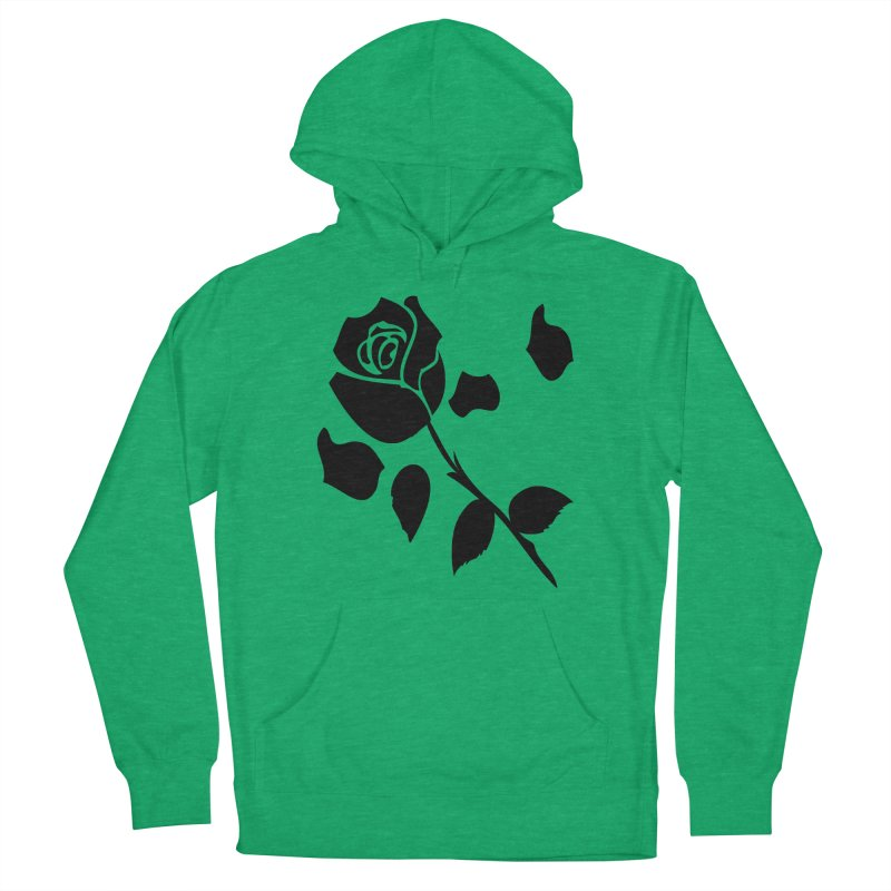 Black rose Women's French Terry Pullover Hoody by cindyshim's Artist Shop