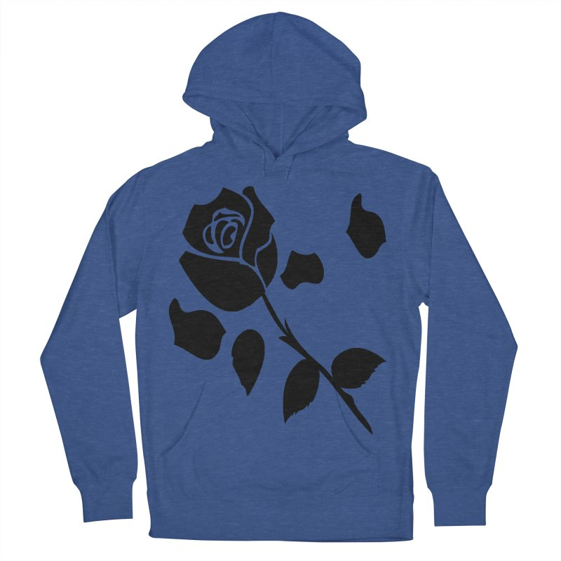 Black rose Men's French Terry Pullover Hoody by cindyshim's Artist Shop