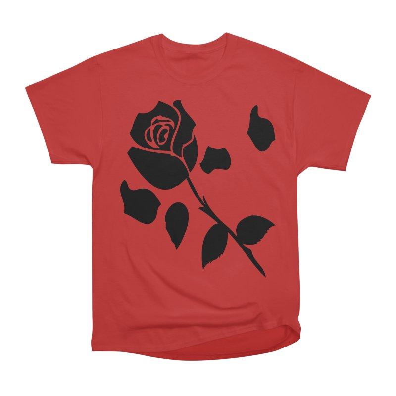 Black rose Men's Heavyweight T-Shirt by cindyshim's Artist Shop