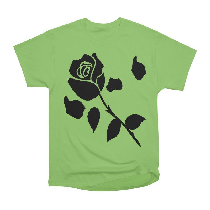Black rose Women's Heavyweight Unisex T-Shirt by cindyshim's Artist Shop