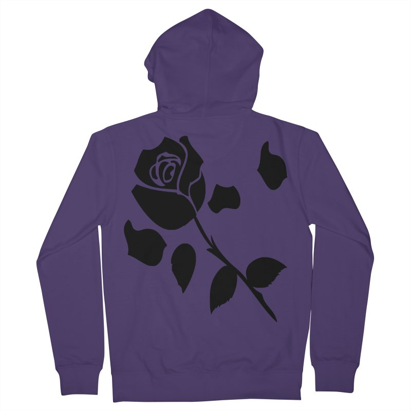 Black rose Women's French Terry Zip-Up Hoody by cindyshim's Artist Shop