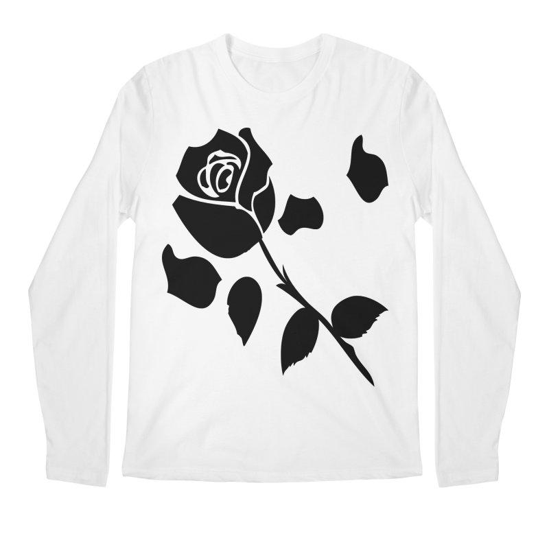 Black rose Men's Regular Longsleeve T-Shirt by cindyshim's Artist Shop
