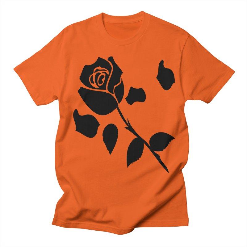 Black rose Women's Regular Unisex T-Shirt by cindyshim's Artist Shop
