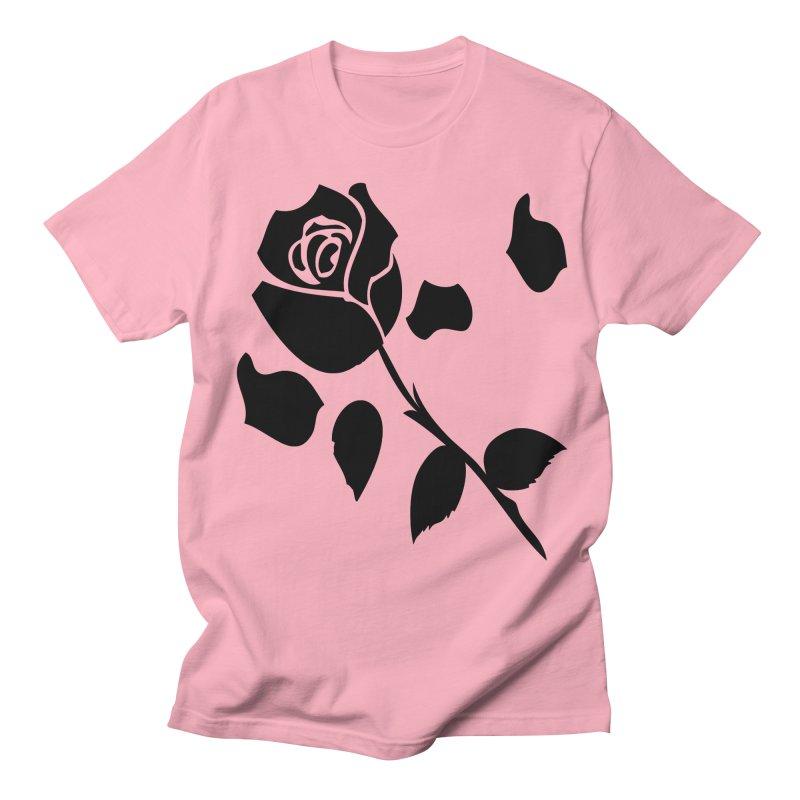 Black rose Men's Regular T-Shirt by cindyshim's Artist Shop