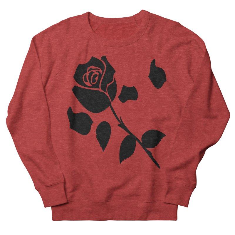 Black rose Women's French Terry Sweatshirt by cindyshim's Artist Shop