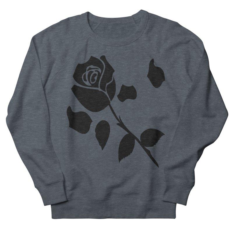 Black rose Men's French Terry Sweatshirt by cindyshim's Artist Shop