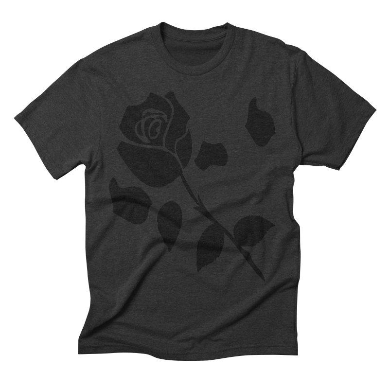 Black rose Men's Triblend T-Shirt by cindyshim's Artist Shop