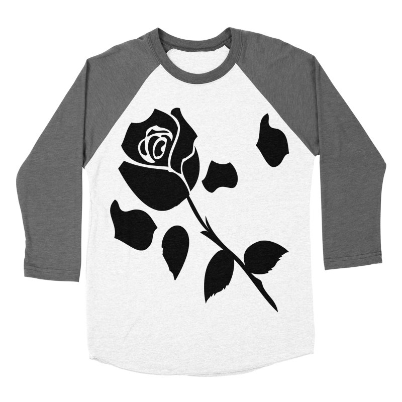 Black rose Women's Baseball Triblend Longsleeve T-Shirt by cindyshim's Artist Shop