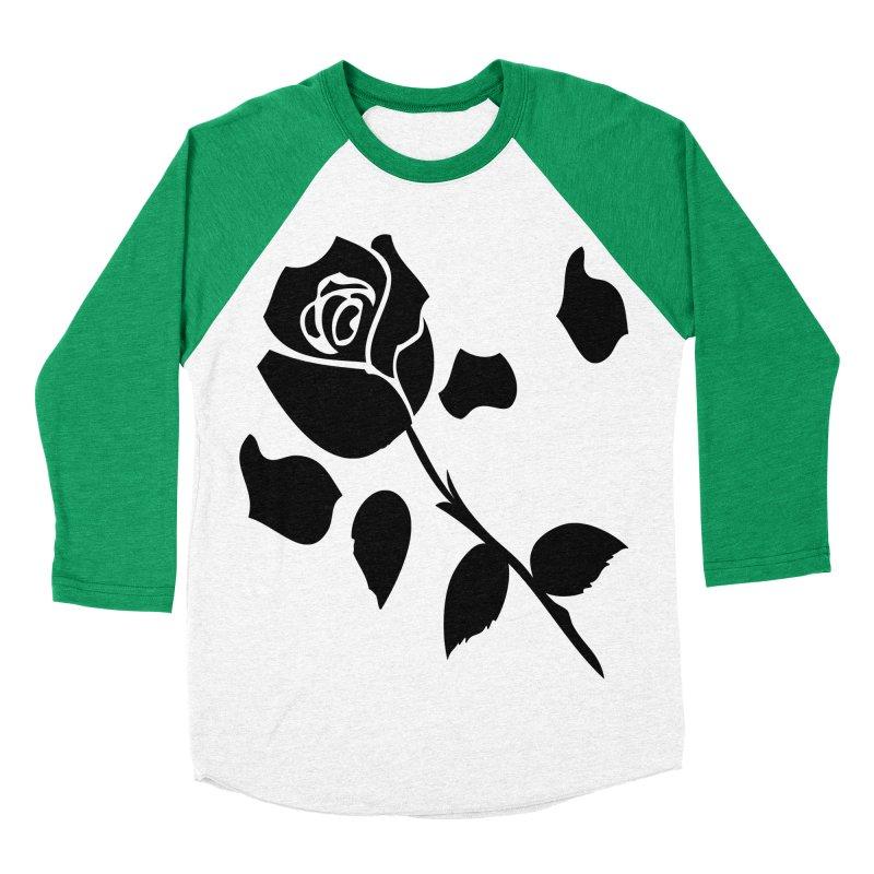 Black rose Men's Baseball Triblend Longsleeve T-Shirt by cindyshim's Artist Shop