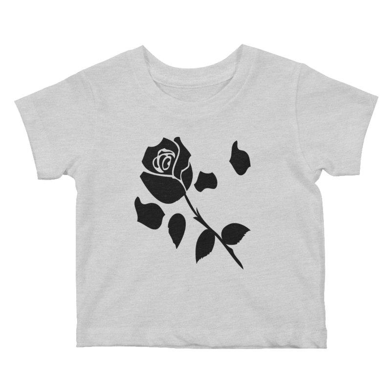Black rose Kids Baby T-Shirt by cindyshim's Artist Shop