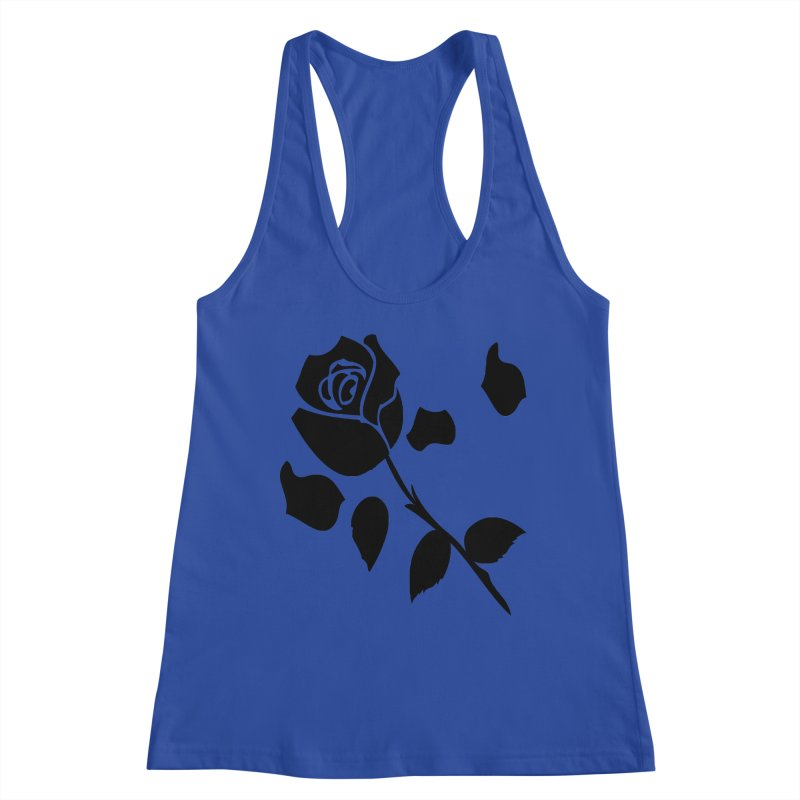 Black rose Women's Racerback Tank by cindyshim's Artist Shop