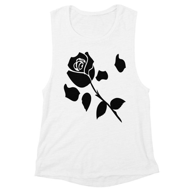 Black rose Women's Muscle Tank by cindyshim's Artist Shop