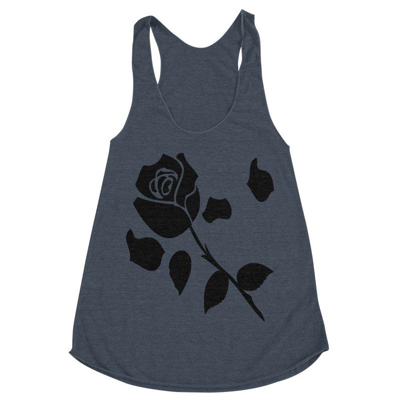 Black rose Women's Racerback Triblend Tank by cindyshim's Artist Shop