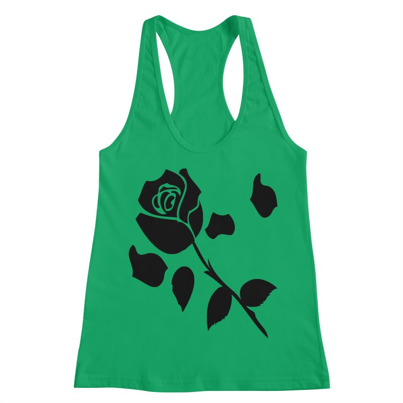 Black rose Women's Racerback Tank by cindyshim's Artist Shop