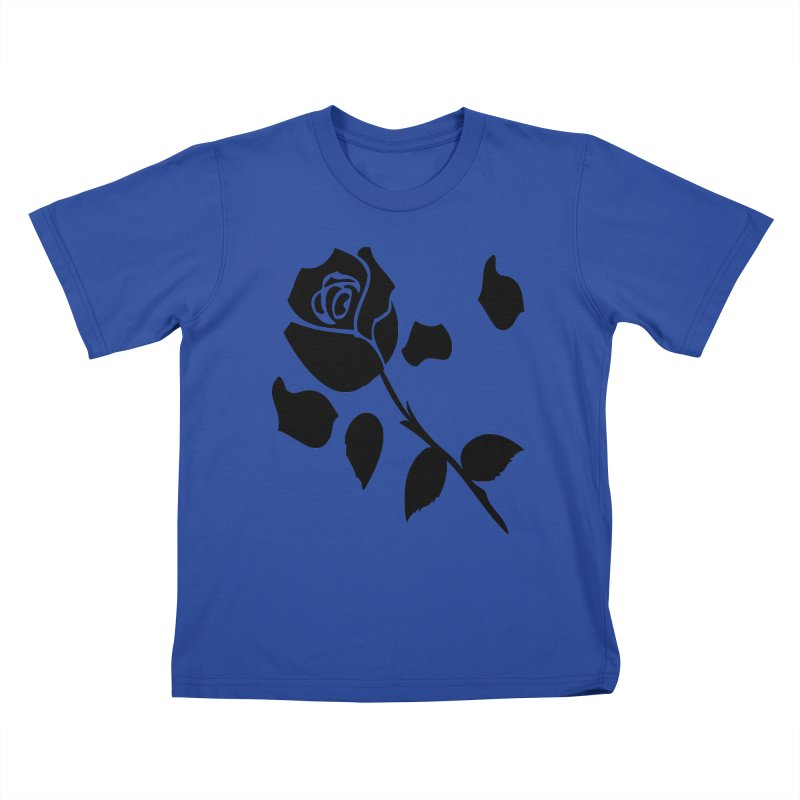 Black rose Kids T-Shirt by cindyshim's Artist Shop