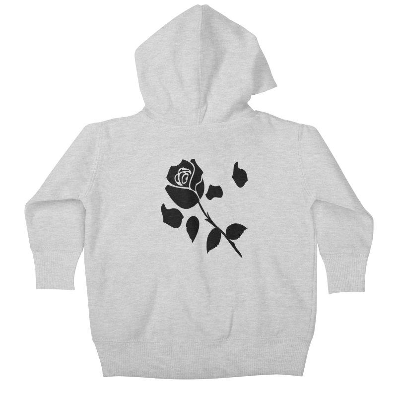 Black rose Kids Baby Zip-Up Hoody by cindyshim's Artist Shop