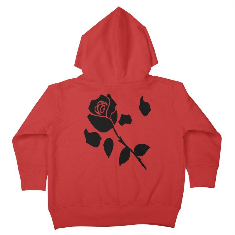 Black rose Kids Toddler Zip-Up Hoody by cindyshim's Artist Shop