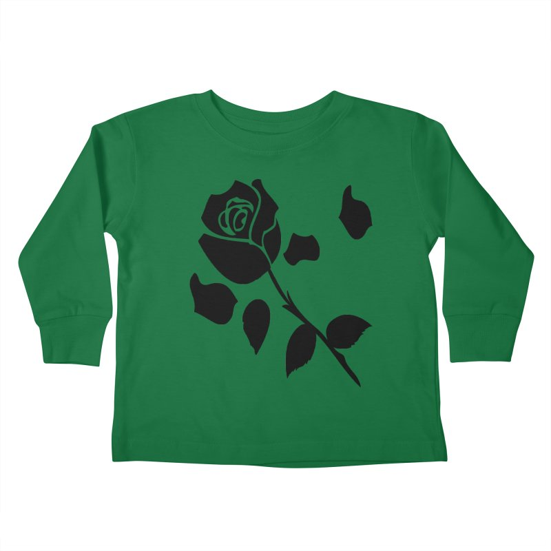 Black rose Kids Toddler Longsleeve T-Shirt by cindyshim's Artist Shop