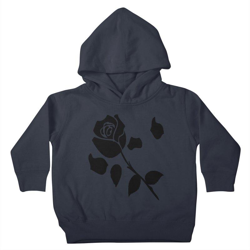 Black rose Kids Toddler Pullover Hoody by cindyshim's Artist Shop