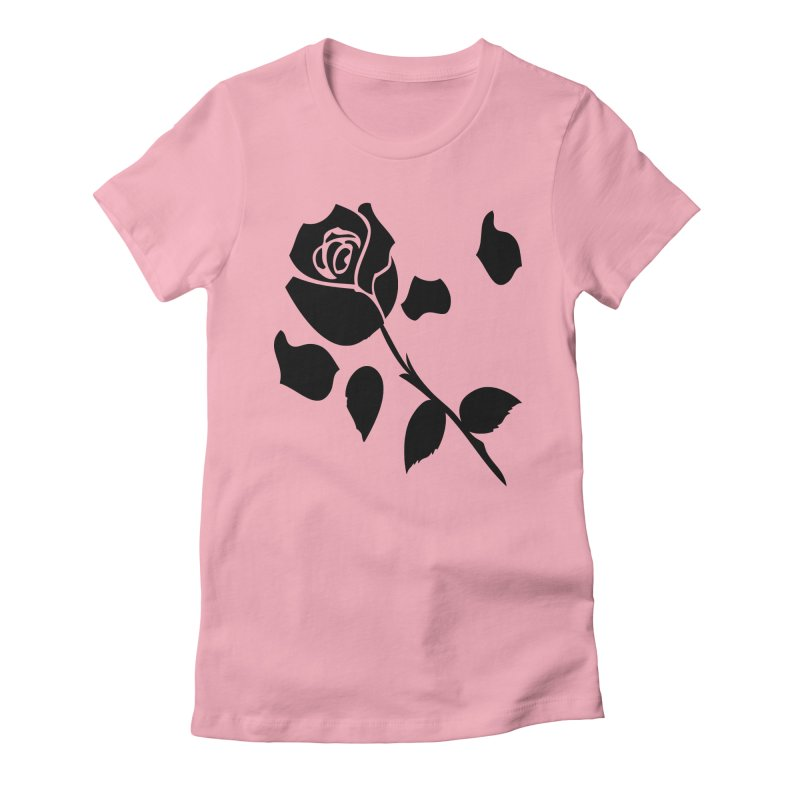 Black rose Women's Fitted T-Shirt by cindyshim's Artist Shop