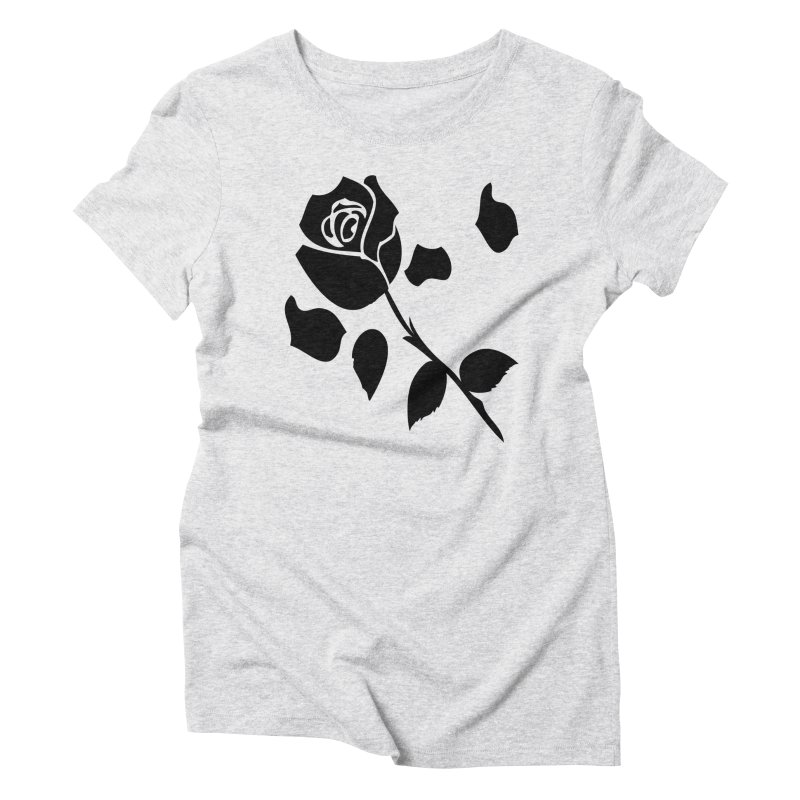 Black rose Women's Triblend T-Shirt by cindyshim's Artist Shop