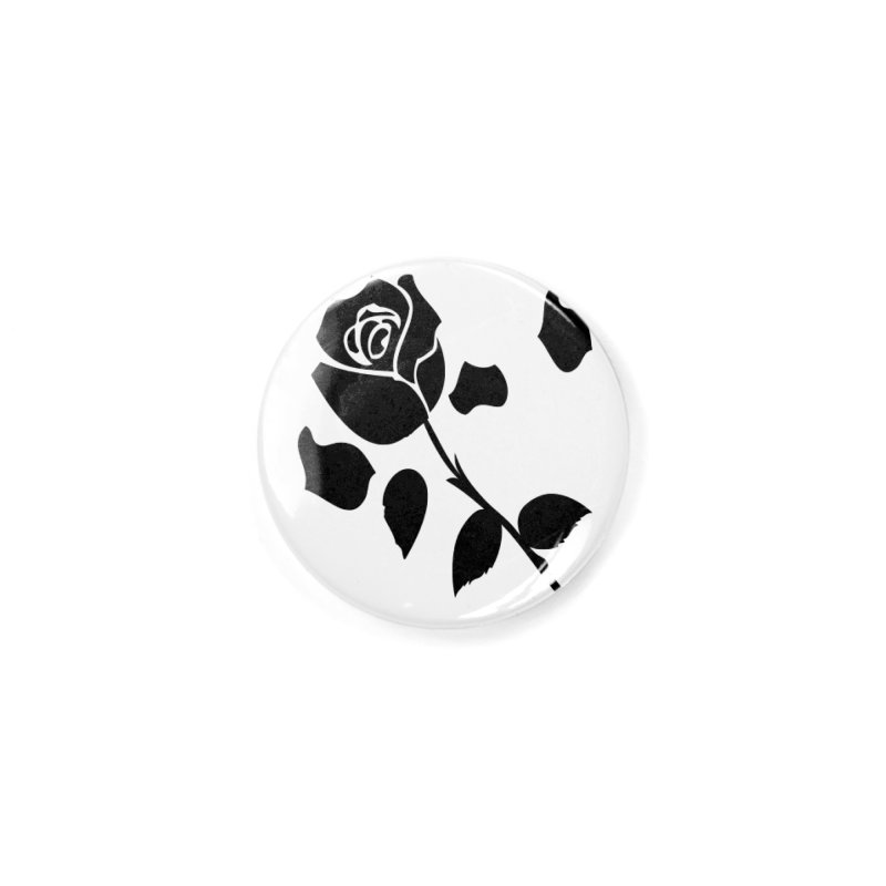 Black rose Accessories Button by cindyshim's Artist Shop