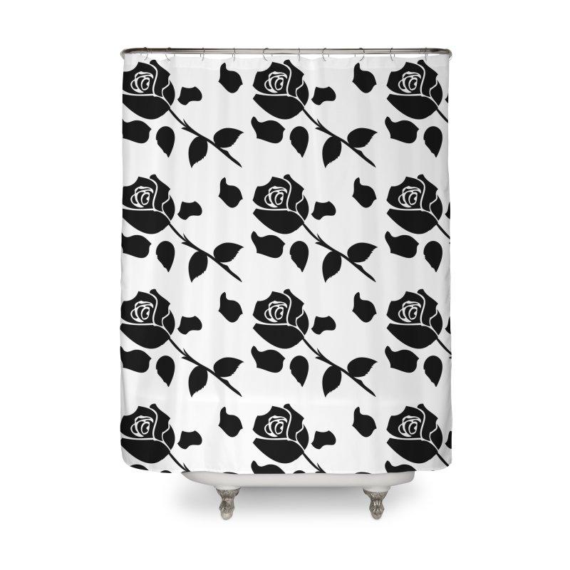 Black rose Home Shower Curtain by cindyshim's Artist Shop