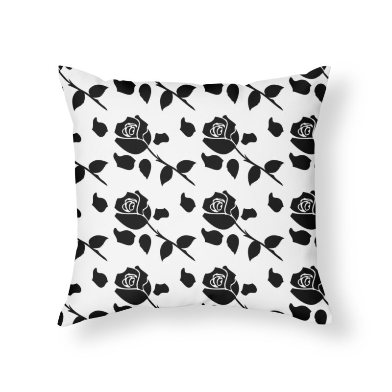 Black rose Home Throw Pillow by cindyshim's Artist Shop