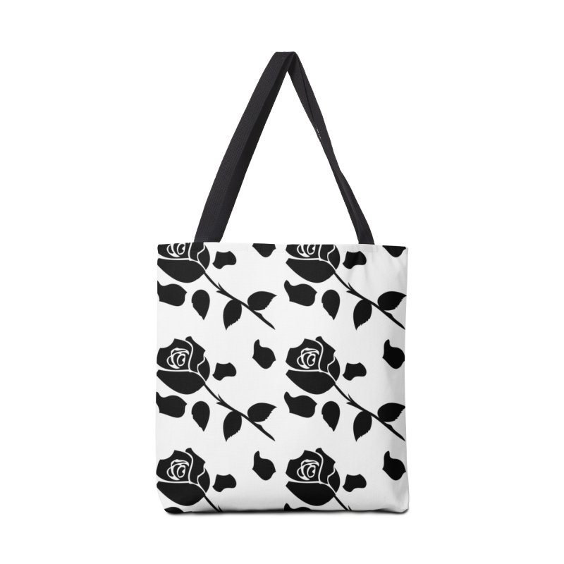 Black rose Accessories Tote Bag Bag by cindyshim's Artist Shop