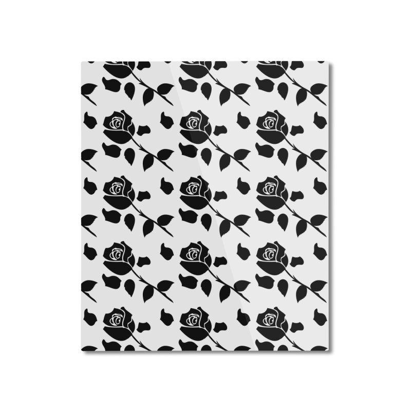 Black rose Home Mounted Aluminum Print by cindyshim's Artist Shop