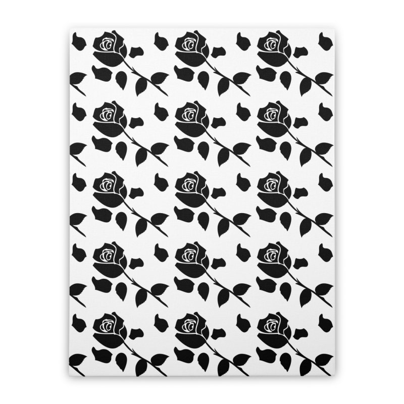 Black rose Home Stretched Canvas by cindyshim's Artist Shop