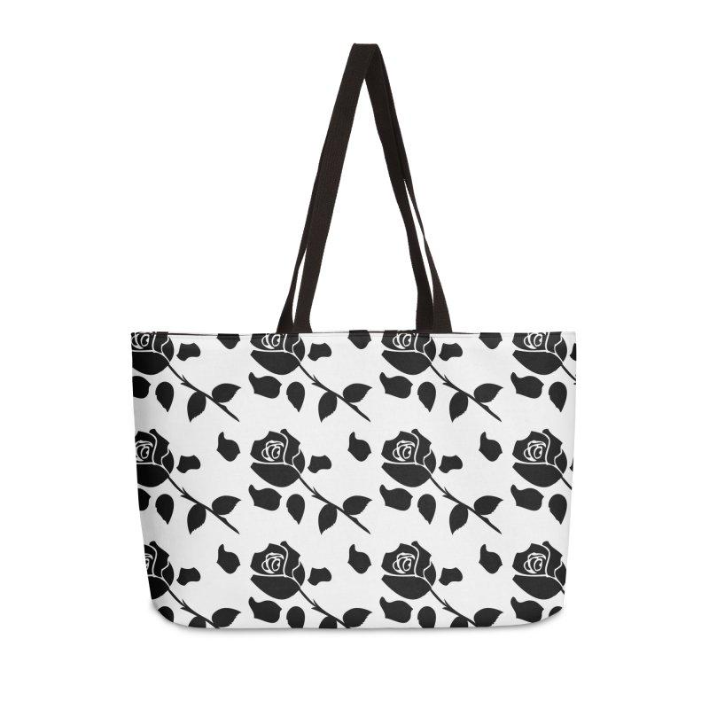 Black rose Accessories Weekender Bag Bag by cindyshim's Artist Shop