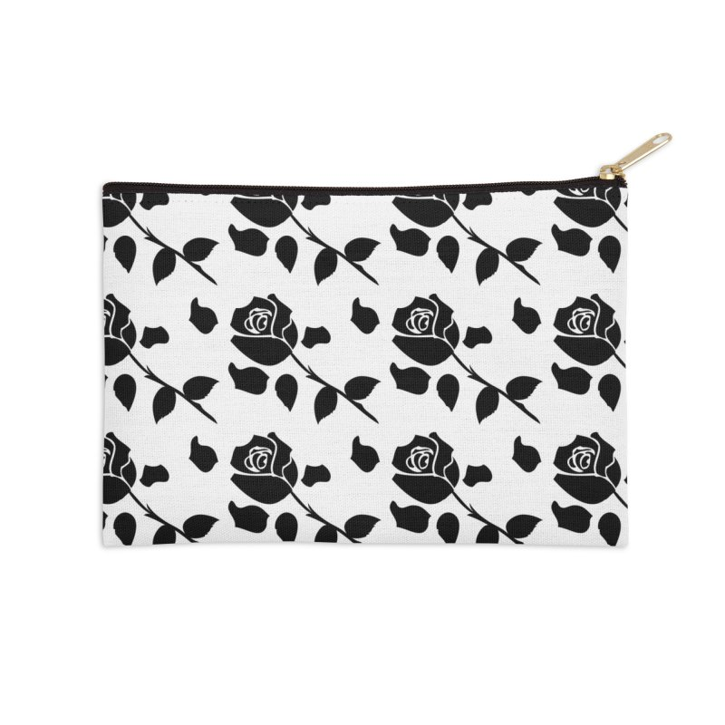 Black rose Accessories Zip Pouch by cindyshim's Artist Shop