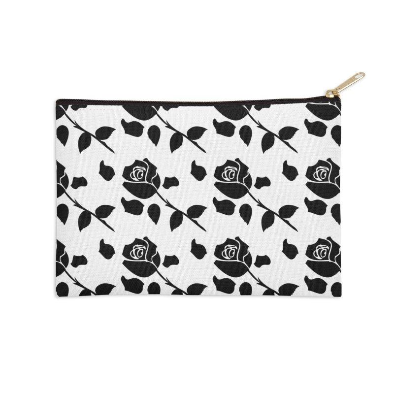 Black rose Accessories Zip Pouch by cindyshim's Artist Shop