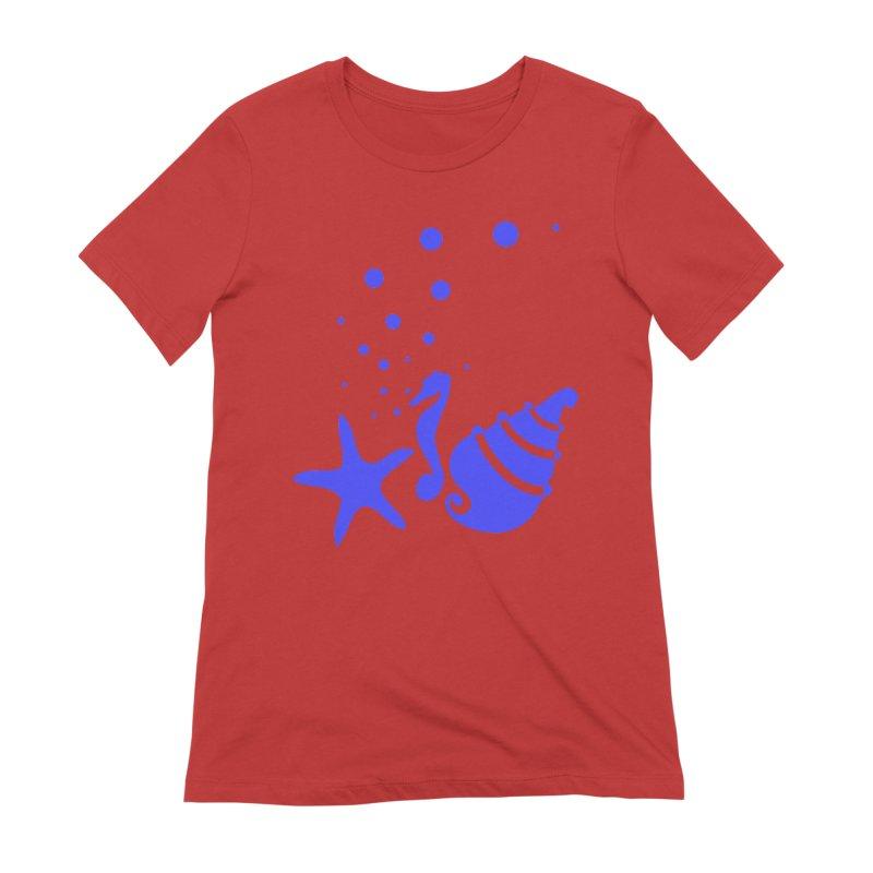 Underwater world Women's Extra Soft T-Shirt by cindyshim's Artist Shop