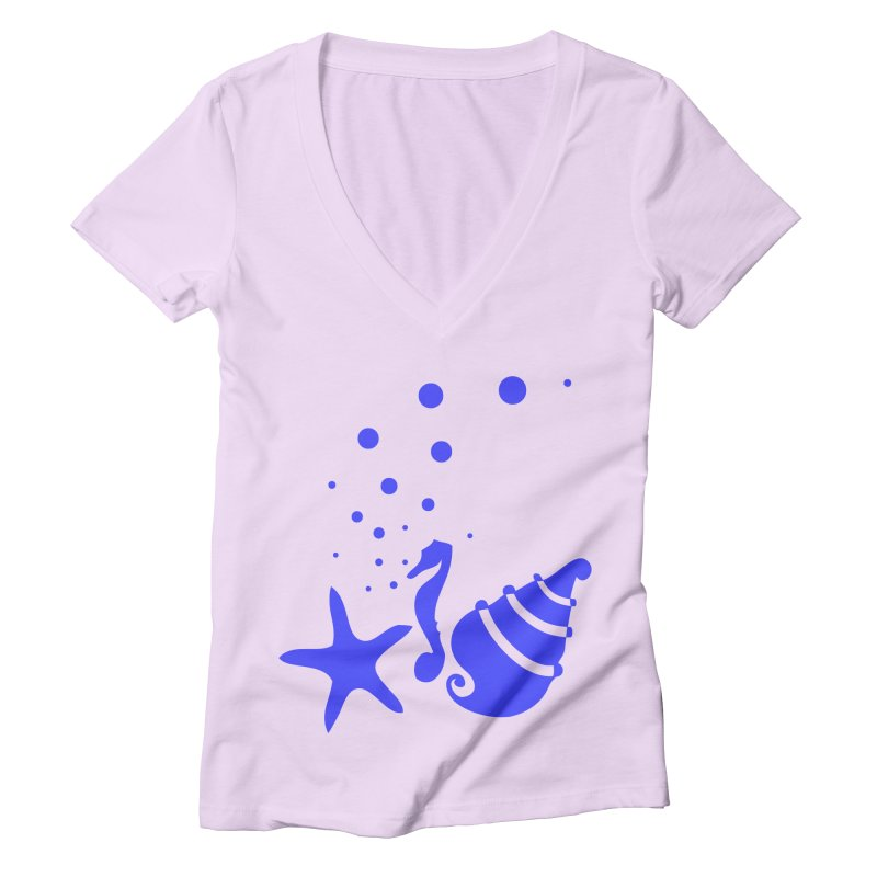 Underwater world Women's Deep V-Neck V-Neck by cindyshim's Artist Shop