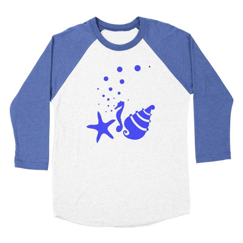 Underwater world Men's Baseball Triblend Longsleeve T-Shirt by cindyshim's Artist Shop