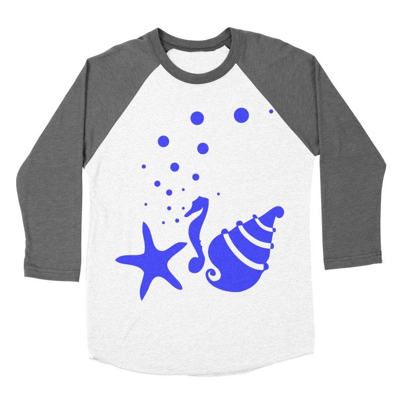 Underwater world Women's Baseball Triblend Longsleeve T-Shirt by cindyshim's Artist Shop