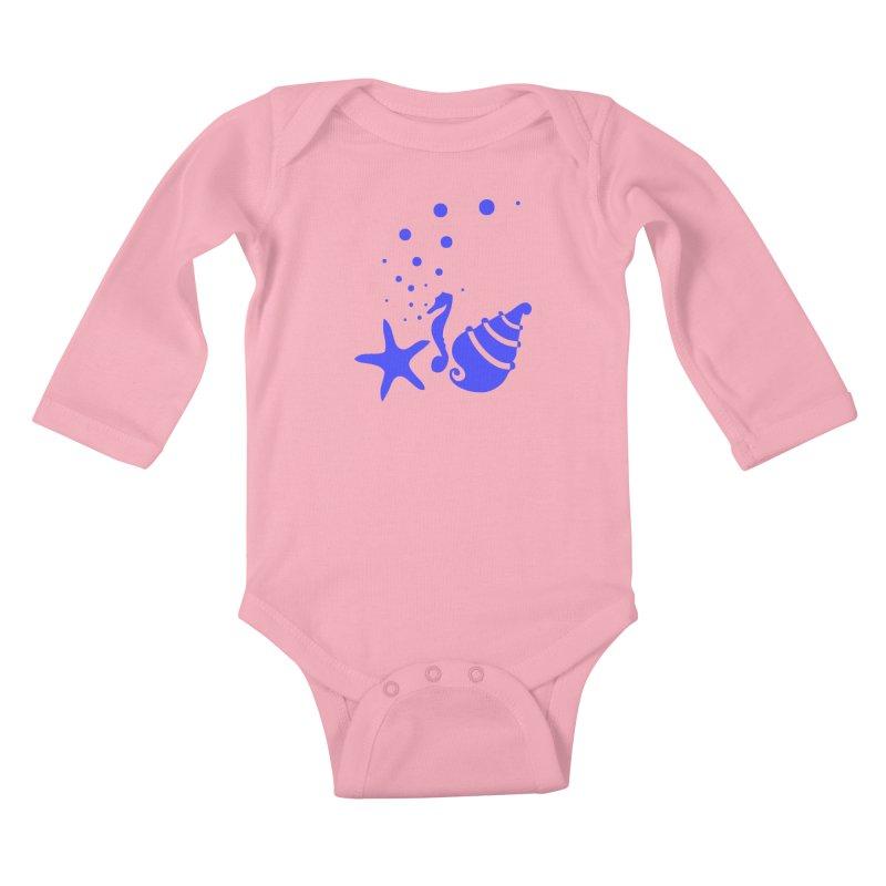 Underwater world Kids Baby Longsleeve Bodysuit by cindyshim's Artist Shop