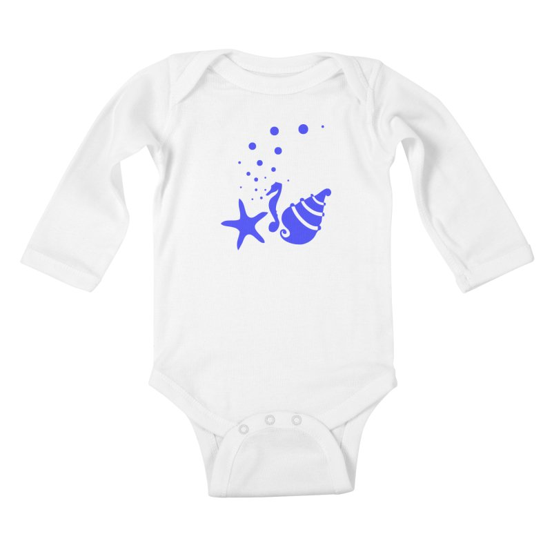 Underwater world Kids Baby Longsleeve Bodysuit by cindyshim's Artist Shop