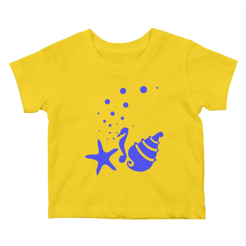 Underwater world Kids Baby T-Shirt by cindyshim's Artist Shop