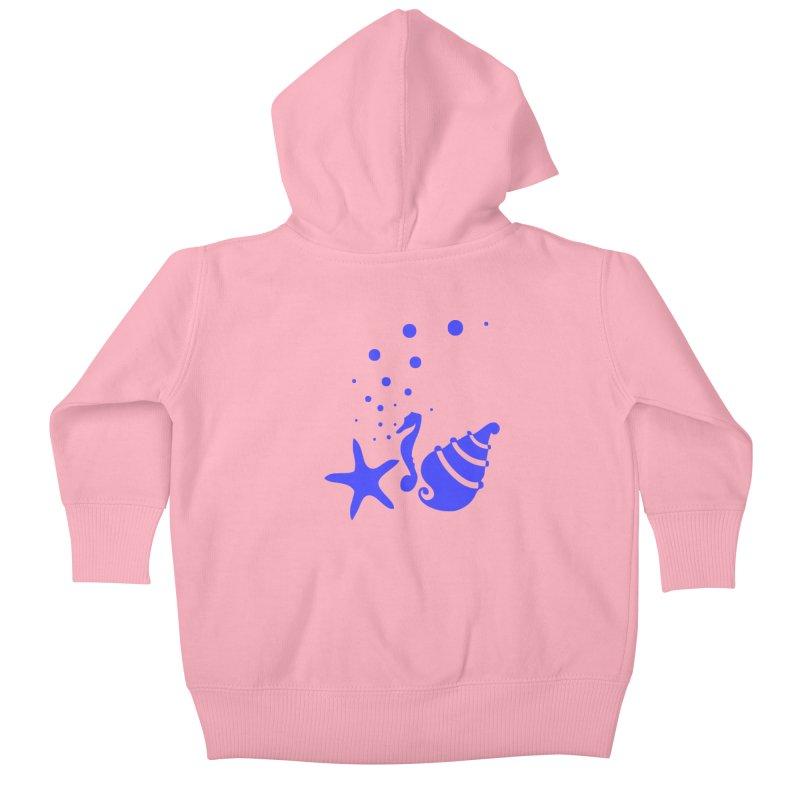 Underwater world Kids Baby Zip-Up Hoody by cindyshim's Artist Shop