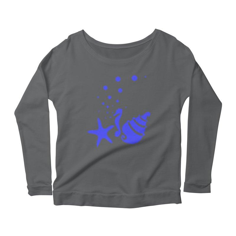 Underwater world Women's Scoop Neck Longsleeve T-Shirt by cindyshim's Artist Shop