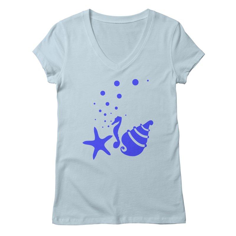 Underwater world Women's Regular V-Neck by cindyshim's Artist Shop