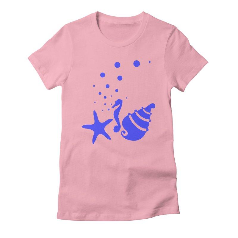 Underwater world Women's Fitted T-Shirt by cindyshim's Artist Shop