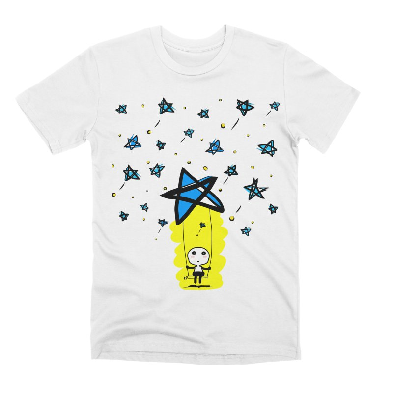 starry night dreamer boy Men's T-Shirt by cindyshim's Artist Shop