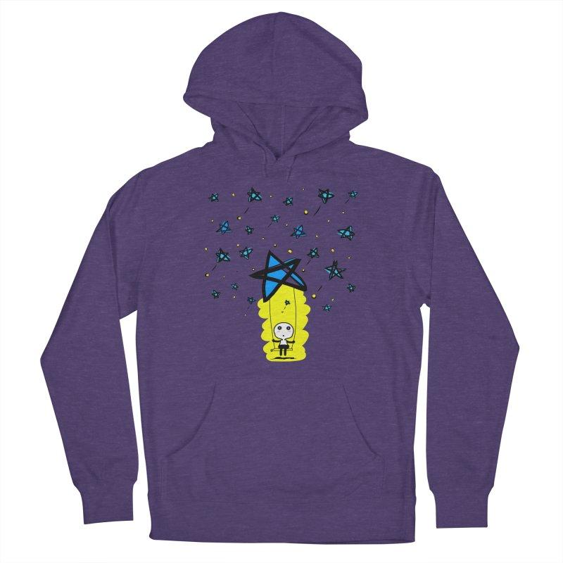 starry night dreamer boy Men's Pullover Hoody by cindyshim's Artist Shop