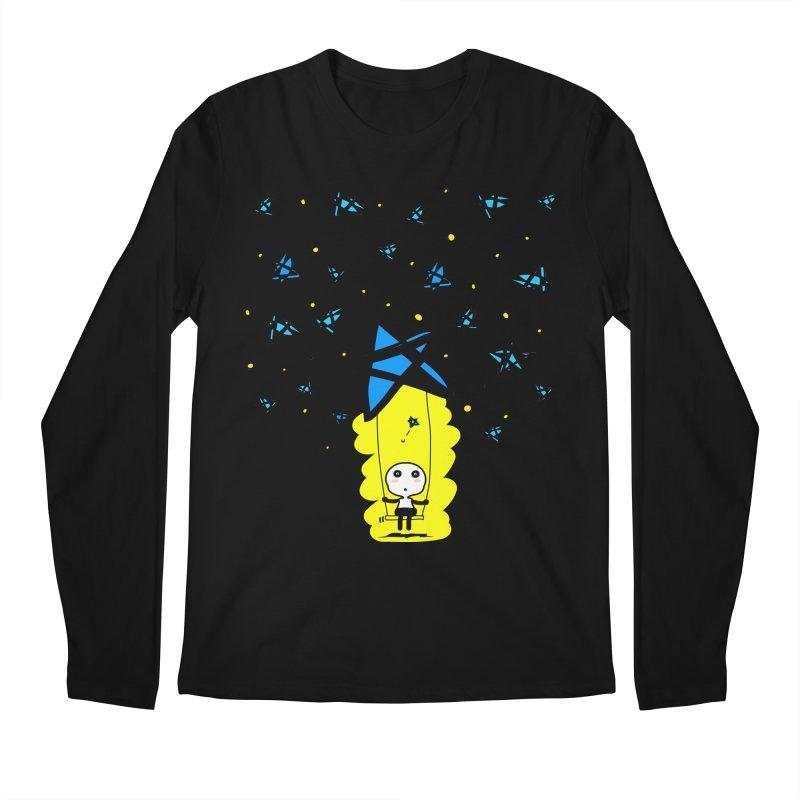 starry night dreamer boy Men's Longsleeve T-Shirt by cindyshim's Artist Shop