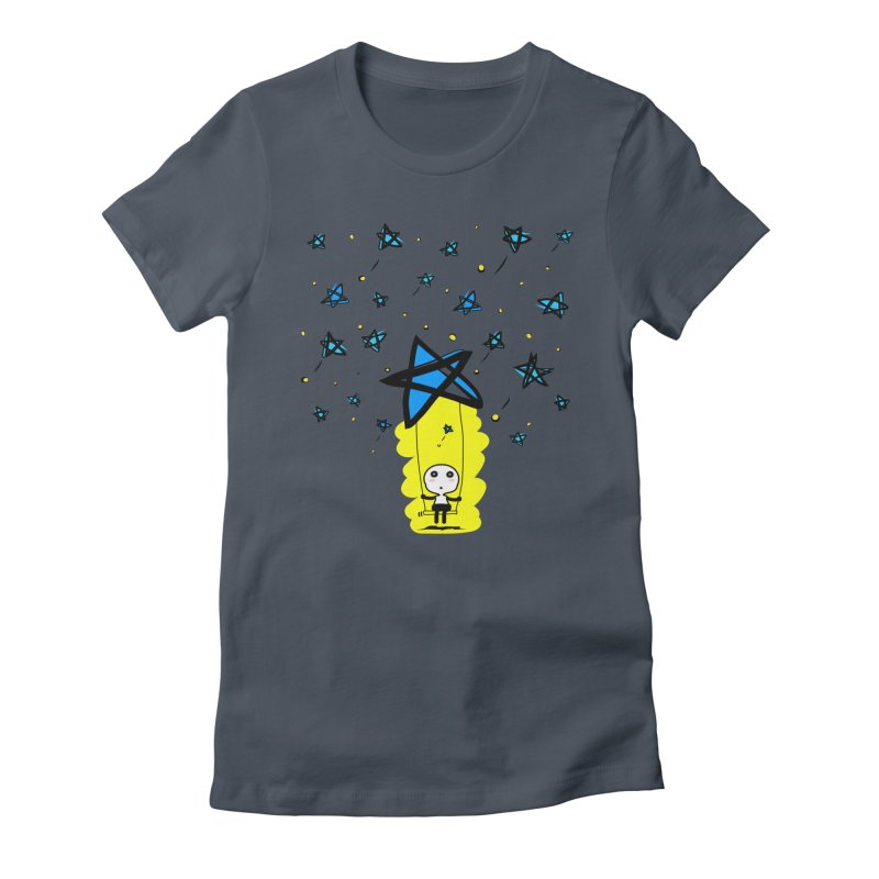 starry night dreamer boy Women's T-Shirt by cindyshim's Artist Shop