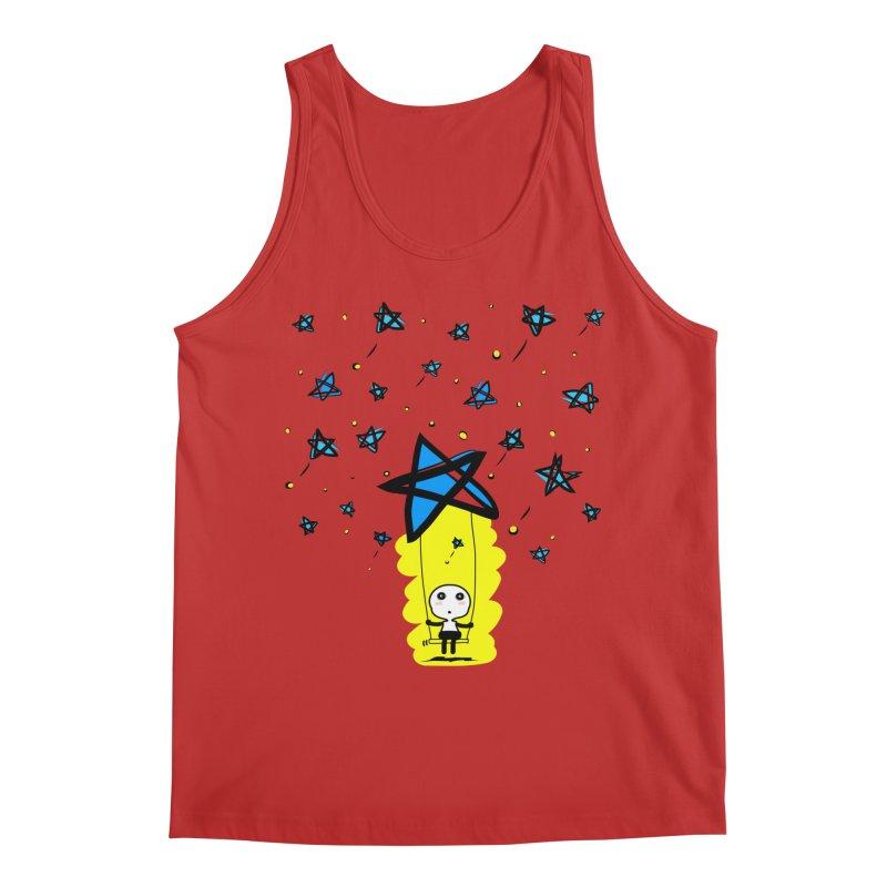 starry night dreamer boy Men's Tank by cindyshim's Artist Shop